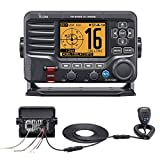 Icom M506 VHF Fixed Mount w/Rear Mic & NMEA 0183/2000® - Black
