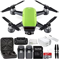 DJI Spark Portable Mini Drone Quadcopter + DJI Goggles Virtual Reality VR FPV POV Experience Essential Bundle (Meadow Green)