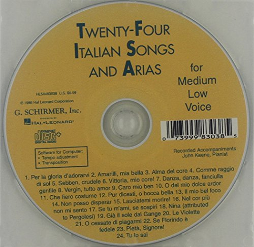 24 Italian Songs & Arias Of The 17th And 18th Centuries ()