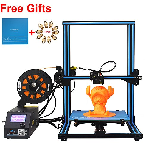 CCTREE Creality CR-10S DIY Desktop 3D Printer Kit Large Printing Size 300x300x400mm 1.75mm 0.4mm Nozzle With Filament Detector and the Dual Z Axis by CCTREE