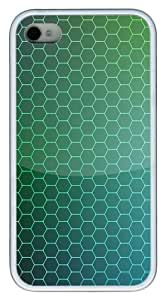 iPhone 4S Case, Honeycomb shaped grid background TPU Custom iPhone 4/4S Case Cover Whtie