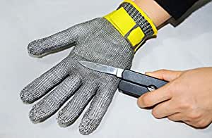Eforlife Safety Cut Proof Protect Glove 100% Stainless Steel Metal Mesh Butcher Gloves