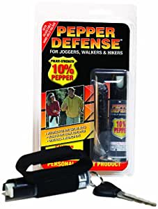 Pepper Defense Max Strength 10% OC Pepper Spray w/ Hand Strap for Jogging, Running, Walking, Hiking - CANNOT BE SHIPPED TO NEW YORK
