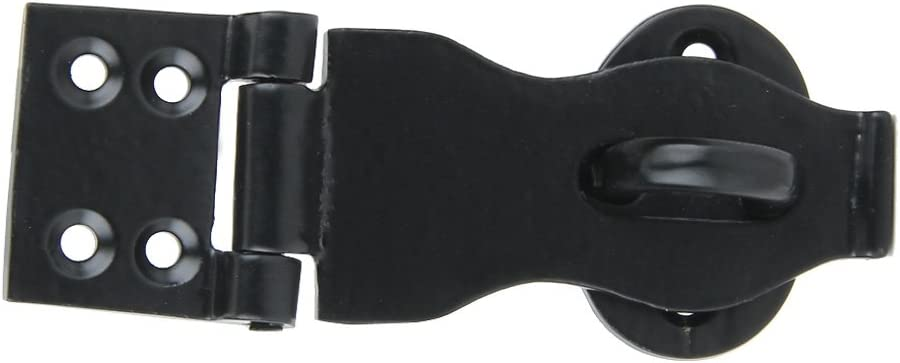 Set of 4 Cast Iron Trunk//Chest Hasp 8 1//2 Inches Black Powder Coat Finish Safety Latch