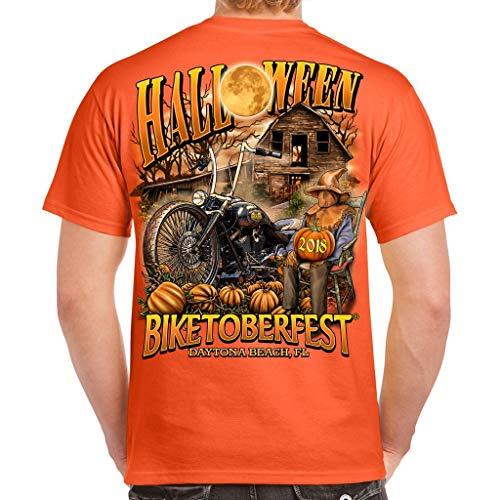 Biker Life USA 2018 Biketoberfest Daytona Beach Halloween T-Shirt -