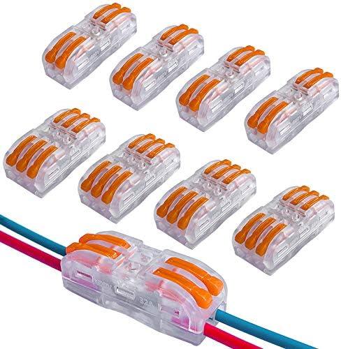 QitinDasen 30Pcs Premium SPL2SPL3 HefboomMoer Draadconnectoren Set Geleider Compacte Draadconnectoren Bilaterale Transparant Fast Wire Kabelverbinder Pushin Kabelklem Klemmenblok