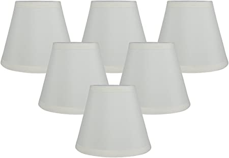 3.5-inch by 6-inch by 5-inch Meriville Set of 5 Black Faux Silk Clip On Chandelier Lamp Shades