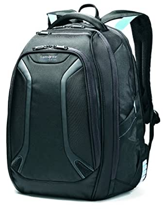 Samsonite Luggage Vizair Laptop Backpack, Black/Electric Blue, 15.6 Inch