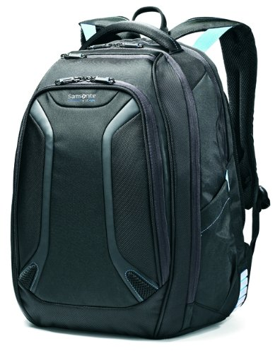 Samsonite VizAir Poliéster Negro, Azul mochila - Mochila para portátiles y netbooks (Poliéster, Negro, Azul, 39,6 cm (15.6