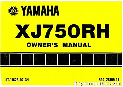 (LIT-11626-02-34 1981 Yamaha XJ750RH Seca Motorcycle Owners Manual)