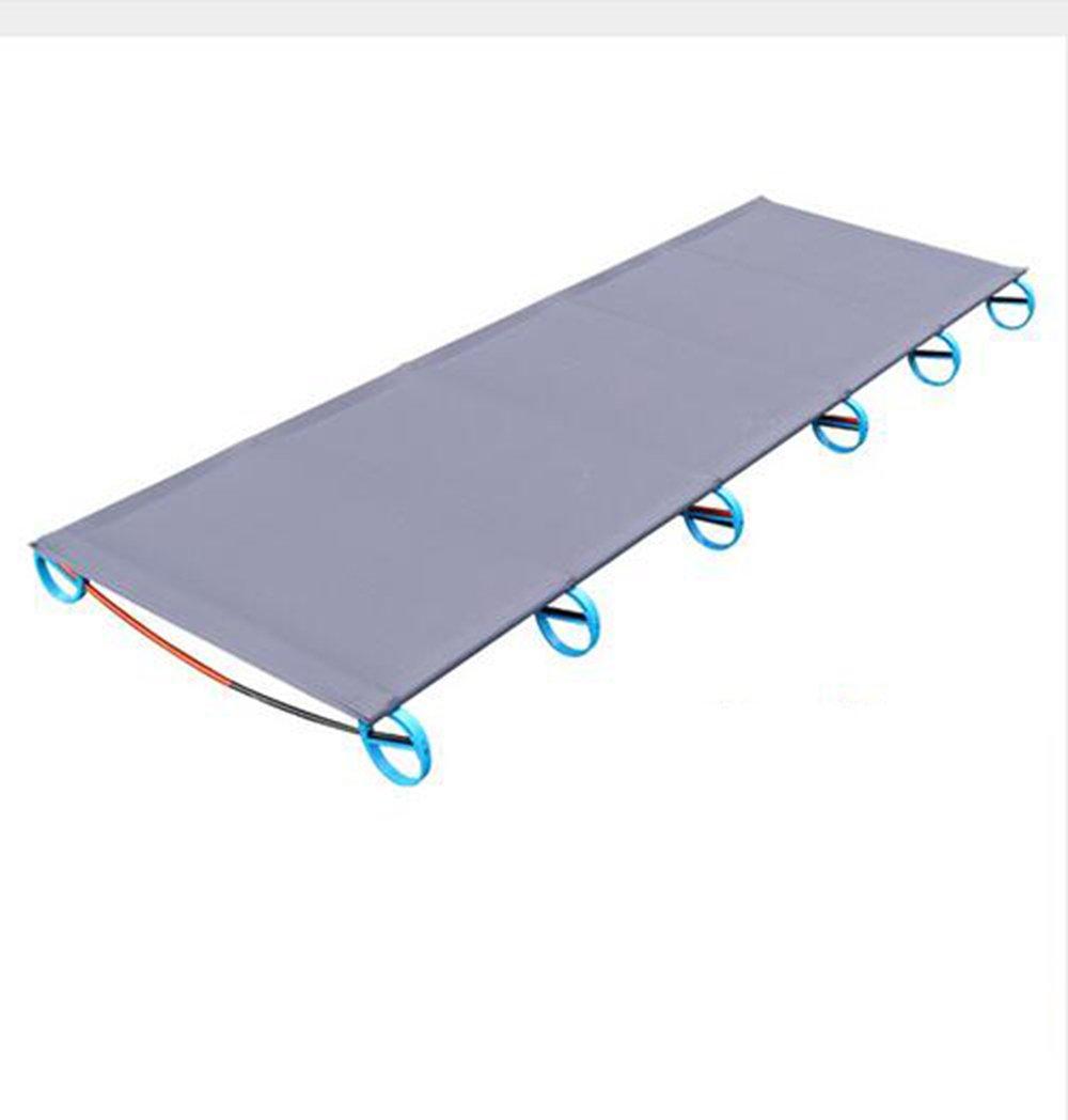 KANGLE Ultraleichtes faltbares Campingbett, Luftfahrt-Aluminium, Einzelbett, tragbar, 185 x 58 cm