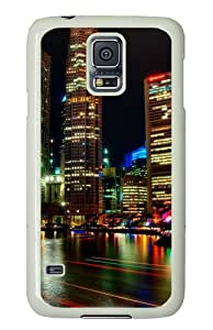 Samsung Galaxy S5 Case Cover - Singapore Night Hard Case Cover For Samsung Galaxy S5 - PC White
