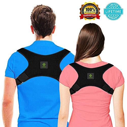 Upper Back Support Brace - THEONEAB Posture Corrector for Women & Men   Comfortable Upper Back Brace   Posture Support   Kyphosis Brace   Posture Brace   Adjustable Posture Correct Brace
