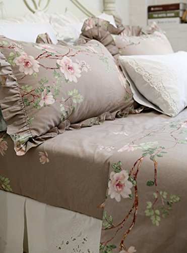 HOMIGOO 4PC Country Bedding Set Floral Fitted Sheet Twin by HOMIGOO (Image #3)
