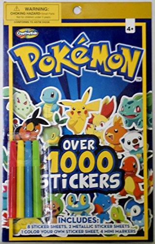 Pokemon Over 1000 Stickers Sticker Pad by Creative Kids