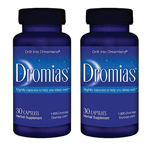 Dromias 850mg rapide, Deep Sleep Aid Supplément avec la mélatonine et Valerian - 2 bouteilles (60 capsules)