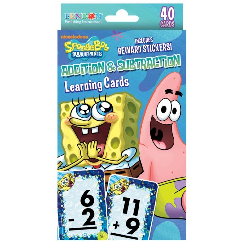 Spongebob Squarepants Addition and Subtraction Reward Cards Party Accessory (Mr Crabs Costume)