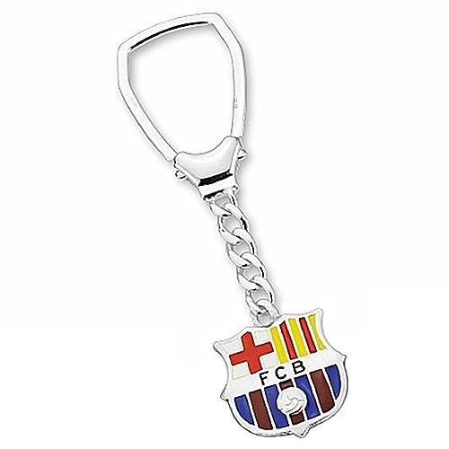 Llavero escudo F.C. Barcelona Plata de ley esmaltado [6913 ...