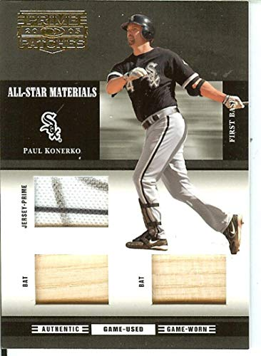 2005 Prime Patches All-Star Materials Triple Swatch Prime #10 Paul Konerko MEM 15/24 White Sox from Prime Patches