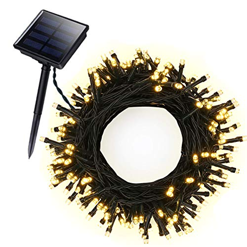 FULLBELL 0utdoor Solar Lights, 72ft 22m 200 LED Solar Fairy Lights, Solar Garden Lights for Outdoor, Home, Lawn, Wedding, Patio, Party and Holiday (Warm White) (0utdoor Lighting)