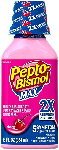 (Pepto-Bismol Max Strength Liquid-Cherry-12oz)