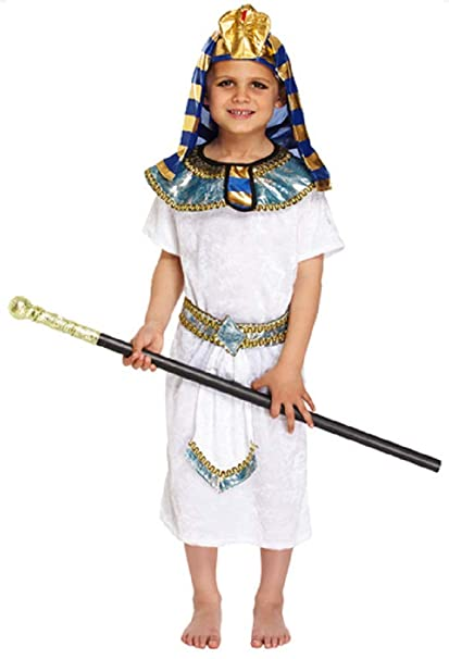 7e22207ac0 Boys 4 Piece Egyptian Pharaoh Historical Book Day Fancy Dress Costume  Outfit 4-12 Years