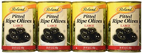 Large Pitted Ripe Olives (Roland Olives,  Pitted Large, 6.3 Ounce (Pack of 12))