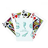 Blue Hippocampus Marine Life Pattern Poker Playing Card Tabletop Board Game Gift
