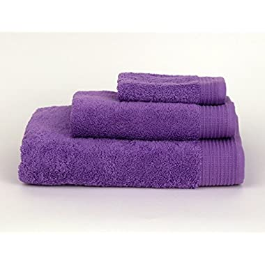 TowelSelections Organic Collection Luxury Towels - 100% Organic Turkish Cotton, Made in Turkey, English Lavender, 3-Piece Set