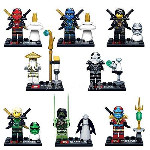 [8 Sets/Lots Minifigures Building Toys Ninja Ninjago Maste Zane Jay Kai Cole DR] (Diy Toothless Dragon Costume)