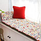 Bay window cushion cover seats sill pad living room bedroom balcony tatami cartoon sponge padded cotton-A 60x216cm(24x85inch)