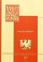Médiévales, N° 57, automne 2009 : Langages politiques : XIIe-XVe siècle