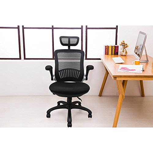 Office Chairs, Komene Ergonomic Mesh Desk Chairs High Back Computer Task Chairs with Adjustable Backrest, Headrest, Armrest and Seat Height for Conference Room by Komene (Image #6)