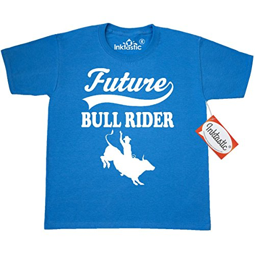 Bull Rider Rodeo (Inktastic Big Boys' Future Bull Rider Rodeo Riding Youth T-Shirt Youth Small (6-8) Pacific)