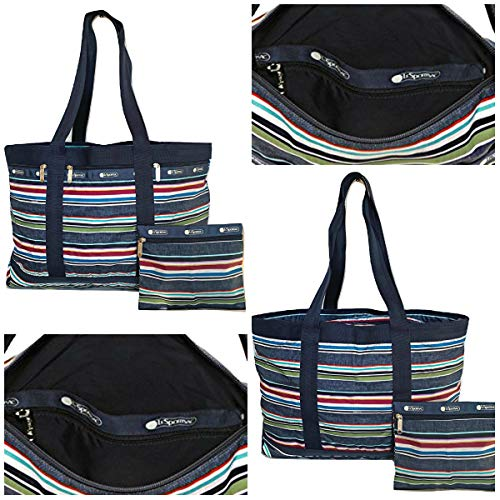 LeSportsac Classic Large Travel Tote Weekender, Indigo Stripe ()