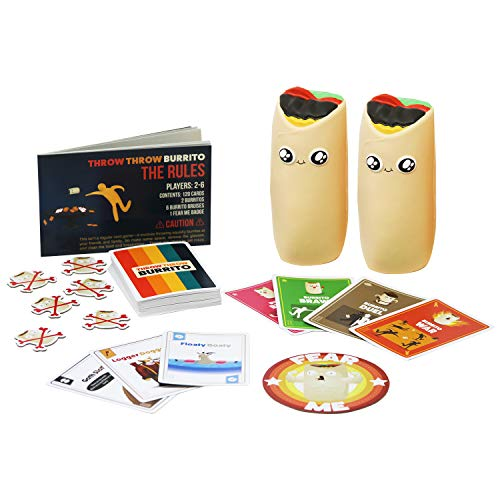 Throw Throw Burrito by Exploding Kittens – A Dodgeball Card Game – Family-Friendly Party Games – Card Games for Adults…