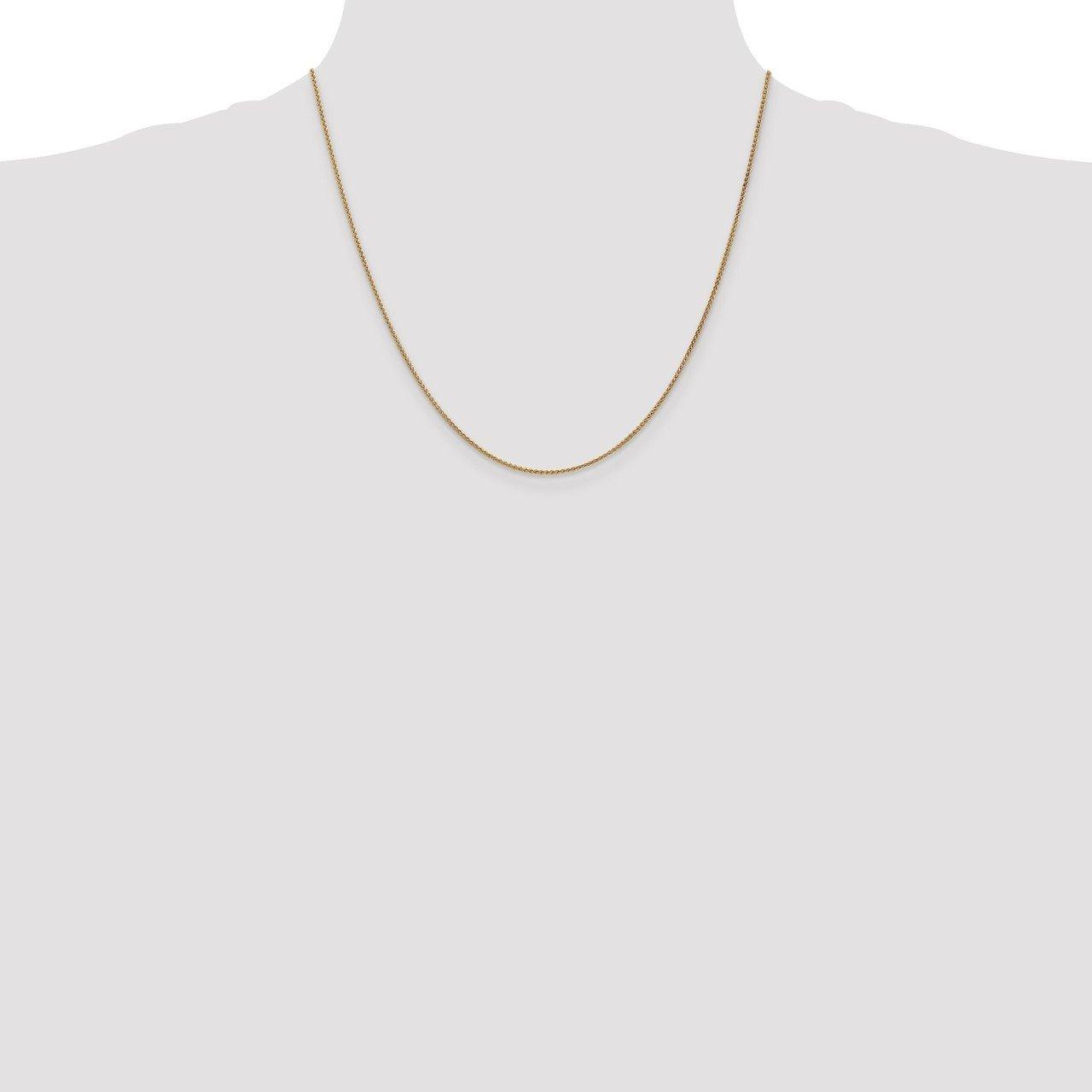 Bracelet or Necklace Lex /& Lu 10k Yellow Gold 1.25mm Spiga Chain Anklet