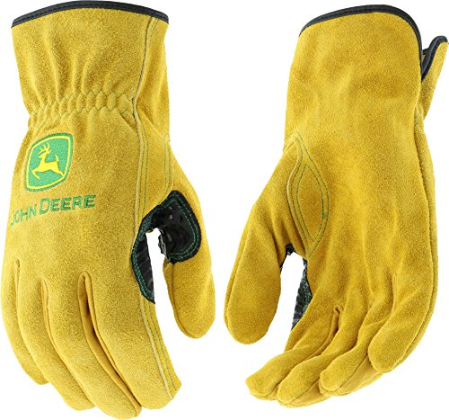 West Chester John Deere JD00004 Premium Split Cowhide Leather Driver Work Gloves: X-Large, 1 Pair