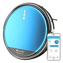 Aspirapolvere Robot Proscenic 811GB Intelligente Blu(2 in 1: robot aspirapolvere e lavapavimenti), Con app e controllo Telecomando, serbatoio dell'acqua Incorporato Regolabile, Ricarica automatica