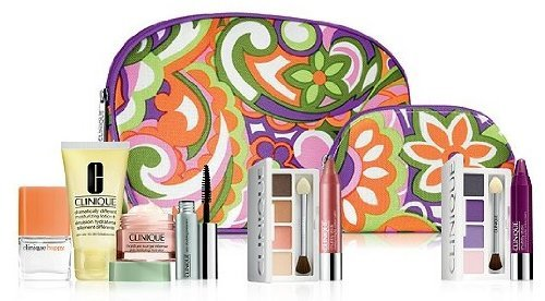 Clinique Fall 2013 Flower Cosmetic Bag Duo 2pc Set