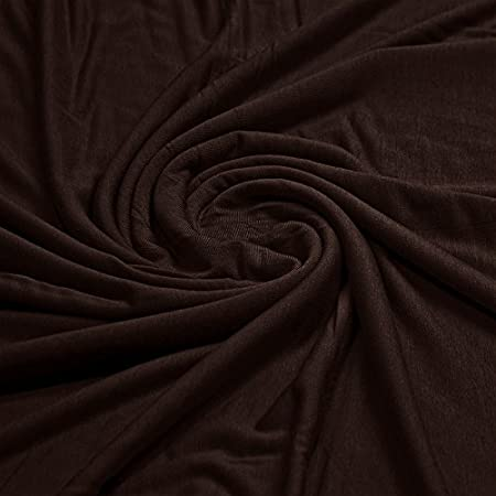 a49a8809598 Plain Viscose Elastane Stretch Jersey Fabric 150 cm wide per metre  (Chocolate): Amazon.co.uk: Kitchen & Home