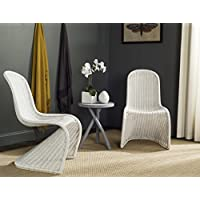 Safavieh Home Collection Tana Wicker Side Chair, White