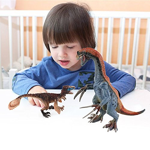 Kids Dinosaur Toys, BooTaa Dinosaur World, Large Realistic Looking Dino Action Figure Kit, Gift for 3 4 5 6 Years Old Boys Kids Toddlers, Birthday Party Game Favor,Therizinosaurus Utahraptor,Pack of 3 by BooTaa (Image #5)