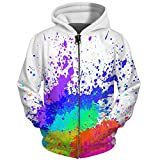 UkEdNs 3D Men Hoodies Zip Up Splatter Color Paint Stains 3D Print Streetwear Casual Jacket Men Women Outwear 05 S