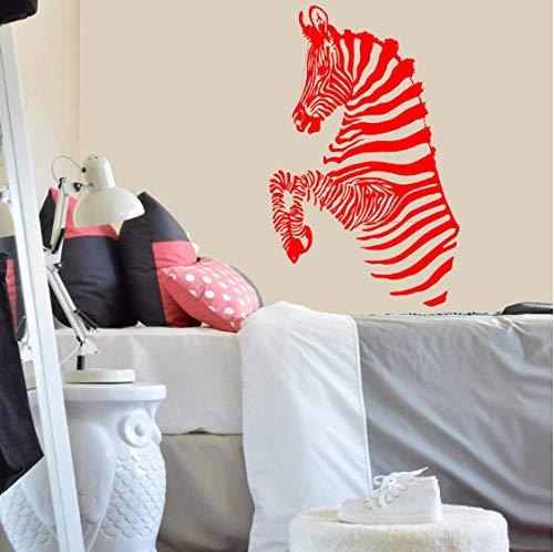 qinheny Wall Decal Zebra Stripes African Wild Animals Safari Vinyl Sticker Home Decoration Art Room Children's Living Room Murals 42X66Cm