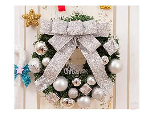 XDXDWEWERT Addobbi natalizi Pendenti di ghirlanda di Natale porta ornamenti camera albero di natale per la decorazione (argento)