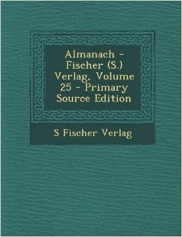 Book Almanach - Fischer (S.) Verlag, Volume 25