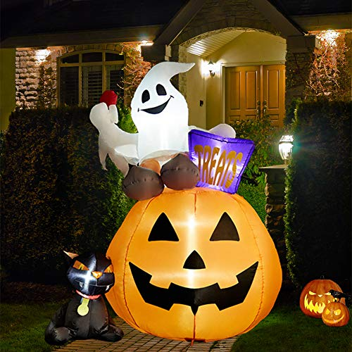 SUPERJARE 6 Ft Inflatable Lantern-Ghost-Cat Now $24.99 (Was $49.99 )