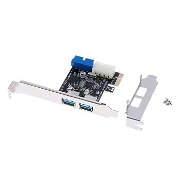 Gazechimp Adaptador De Tarjeta De Expansión PCI-E A 2 ...