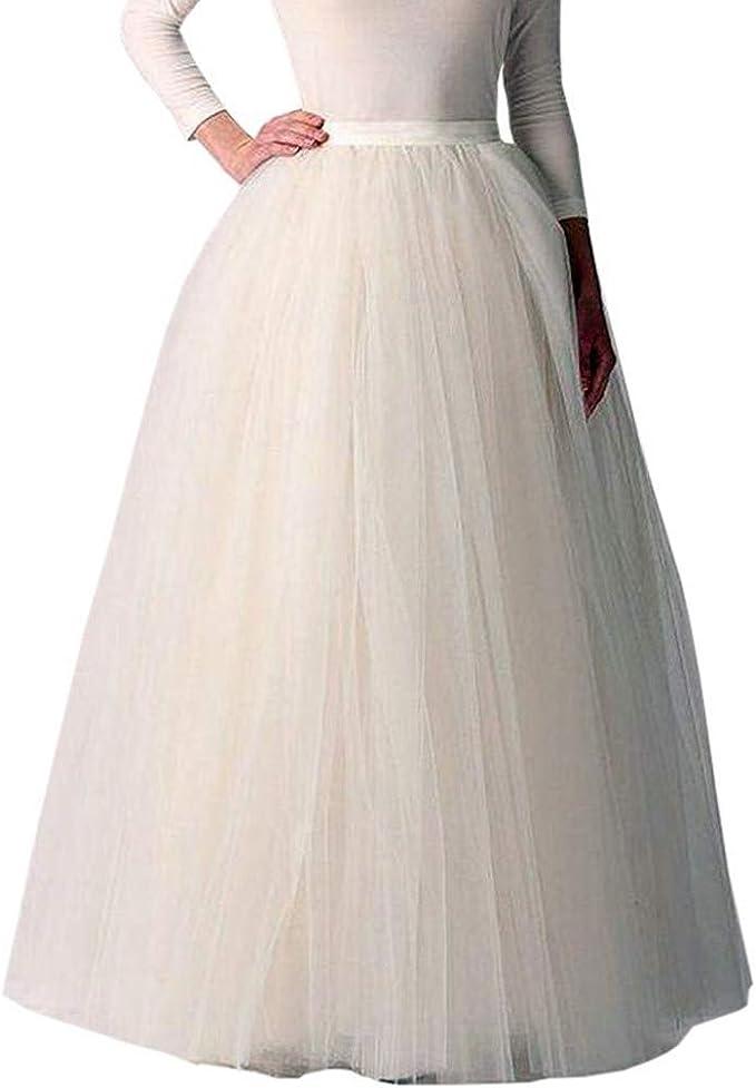 SCARLET DARKNESS Donna Sottogonna Petticoat Organza Vintage Gonna Tulle Lunga